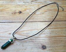 Pretty Malachite Effect Pendant Necklace/Natural Stone Jewellery/Striking/Green