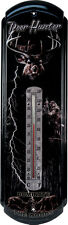 "Large Tin Thermometer 5"" x 17"" NEW Deer Hunter Dominate the Woods FREE SHIP"