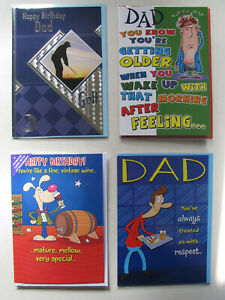 Birthday Cards Dad Father Humorous Happy Family Daddy Old Age Mature Adult