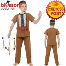 CK991 Indian Warrior Native American Boys Child Wild West Book Week Kids Costume