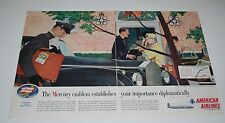 Vintage 1957 American Airlines & the DC7 Mercury 2 Page Spread Print Ad