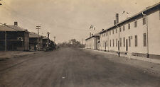 OLD VINTAGE ANTIQUE 1918 WWI PHOTO of U.S. ARMY POST BARRACKS FORT SILL OKLAHOMA