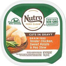 Nutro Cuts in Gravy Grain Free Tender Chicken, 3.5 oz Trays  BB 11/21  17 Trays