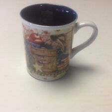 Legacy ''Apples And Birdhouse'' Patriotic Coffee Mug Diane Knott Artwork
