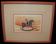 """P. Buckley Moss """"My Pony"""" Amish Lithograph Print Signed"""