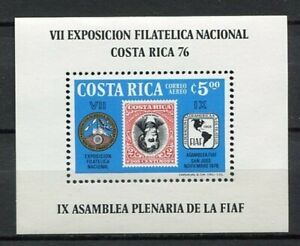 35445) Costa Rica 1976 MNH 7th Natl. Phil. Exhib. S/S