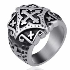 Punk Gothic High Quality Jewelry Metal Cross Ring Fashion Simple Men