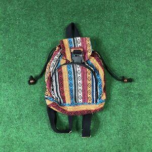 VINTAGE Multicolored Boho Mini Backpack