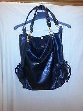 Metro 7 Faux leather shoulder tote Black bag Purse EUC
