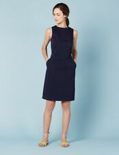 (160) Boden dark navy cotton Chino tunic dress size UK 10-12 Long