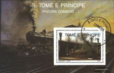 Sao Tome e Principe block210 (complete.issue.) fine used / cancelled 1989 Locomo