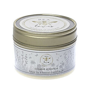 Bea Loves Natural Scented Soy Wax & Pure Beeswax 130g Candle: Cosmos & Dahlia