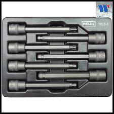 Welzh Werkzeug 3/8dr Extra Long Ball Hex Allen Key Socket Set 110mm H3-H10