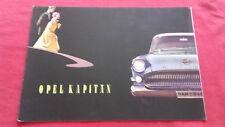 Catalogue publicitaire Opel Kapitän 1956 en français