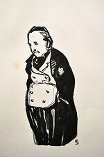 "BOIS gravé 2 MALCOURONNE dessin ""le mari"" DUFOUR illust. Anatole France vélin"