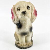 Antique Vintage Hand Painted Chalkware Spaniel Dog Sculpture Figurine Statue