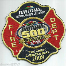 "Daytona International Speedway - 50 Years, FL  (4.25"" x 4.25"" size)  fire patch"