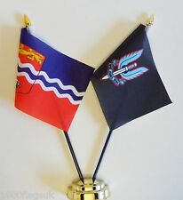 Herefordshire & Special Air Service SAS Black Double Friendship Table Flag Set