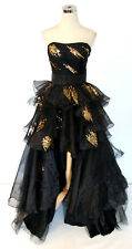 NWT Flirt by Maggie Sottero $498 Black Evening Gown 6