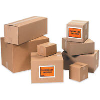 22x6x6 100 Shipping Packing Mailing Moving Boxes Corrugated Cartons