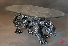 Neuheit Designer Couchtisch Dragon Black Gothic Wohnzimmertisch Tisch Glastisch