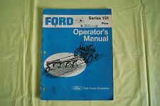 Ford Tractor Series 151 plow Series  operator's manual Ford Motor Company