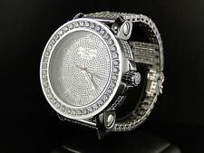 Mens Khronos White simulated Diamond 1 row bezel simulated diamond watch band