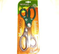 "Westcott Scissors 2 Pack 8"" Stainless Steel Blade KleenEarth Recycled Content"