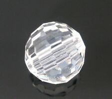 50 Novità Perle in Mezzo Cristallo Vetro Sfaccettate Sfera Trasparente 10*9mm