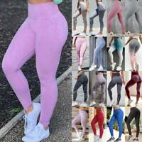 Women Seamless Yoga Pants High Waist Push Up Fitness Leggings Sports Gym Workout