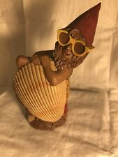 """#4 Signed Tom Clark Gnome Aloe Lifeguard in Shell #5112 Cairn Studios 5.75"""""""