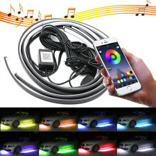4x 8 Color RGB LED Under Car Tube Strip Underbody Neon Light Kit Phone Control