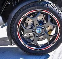 2D Printing Wheel Rim Inner Stripe Emblem Stickers Decals Set for MP3 500
