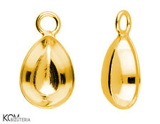 Pendant (bail) for Swarovski 4320 10 mm w 121 - gold-plated silver