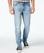 American Rag Men's Slim Fit, Ripped Jeans, Light Blue,Size: 38Wx32L