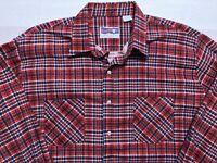 Vintage USA American Edition Plaid Flannel Shirt Mens XLT Extra Large Tall EUC