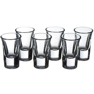 VonShef Shot Glasses set 6x25ml Liqueur Clear Quality Party Shooter Set Glasses