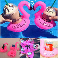 Pink Flamingo Floating Inflatable Drink Can Holder Swimming Pool Bath Toy