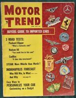 Motor Trend 1955 Imported Cars Buyers Guide + Hudson Packard Cadillac Road Tests