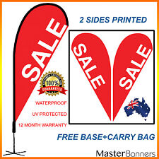 SALE Banner Flag Red Teardrop  Kit Advertising Promotional Outdoor Indoor Sign