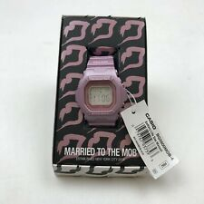 MARRIED TO THE MOB X G SHOCK BABY G 'MOB' WATCH LADIES PINK NEW LIMITED