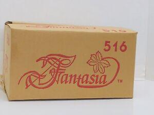 VINTAGE PRINCESS HOUSE CLEAR CRYSTAL #516 FANTASIA (SET of 4) COFFEE MUGS NIB