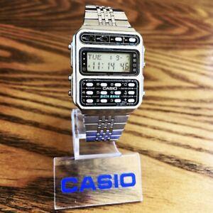 RARE Vintage 1984 Casio CD-401 1ST Data Bank Calculator Watch Japan Made Mod 246