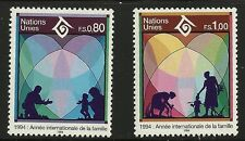 UN Scott #Geneva 244-45, Singles 1994 Complete Set FVF MNH