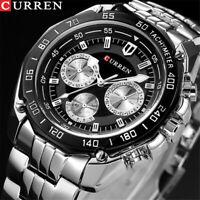 ORIGINAL Curren Herren Uhren Quarz Luxus Herren Armbanduhr WasserdichtF0X1