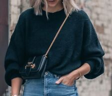 8 Birdies Black Winter Knit Jumper Sweater, Size Small