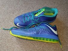 nike lebron x 10 sprite low air max basketball trainers sneakers uk 13 vgc