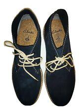 Clarks Originals Mens Boots Desert Midnight Suede - Size 10 US (UK 9) *Good*