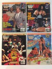 Lot of 4 WWF Magazine 1995 May Jun Jul Aug Lex Jordan Diesel Lawler Michaels WWE