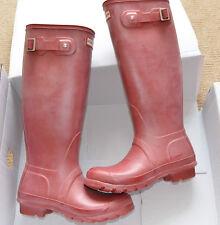 Nuevo Hunter Original Botas para mujer Rojo Alto Wellington Goma para Lluvia Botas de agua UK 4